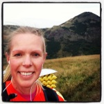 Running with my 8.5kg pack around Arthur's Seat in Edinburgh