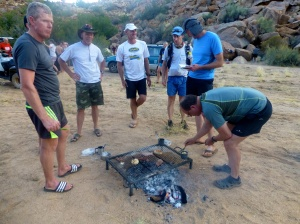 The South Africans show us how it's done with a Braai on Day 1!