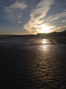 Sand running at Portobello Beach