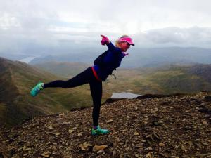 Flying at the summit of Helvellyn