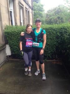 Edinburgh Marathon runners