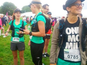Serious pre race chat with Cat