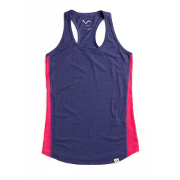 Stay fresh vest in purple with pink panelling