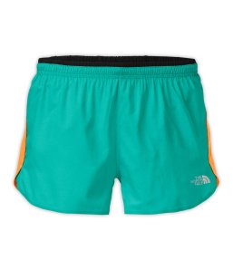 Better than Naked Shorts in Jaiden Green Heather/Vitamin C Orange
