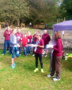 Receiving my award for 3rd lady