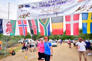 At the start line with Dion