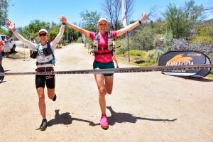 Linda & I cross the final finish line.