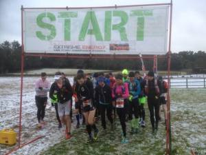 Looking rather chilly on the start line of Day 1
