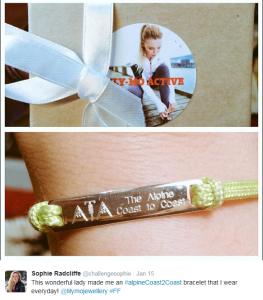 Sophie's gorgeous bracelet