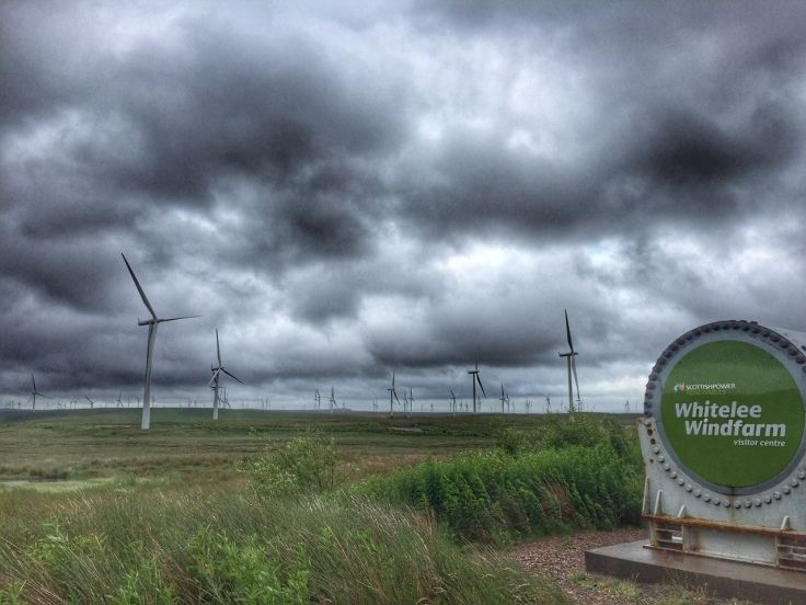 Ominous looking weather at  Whitelee wind farm