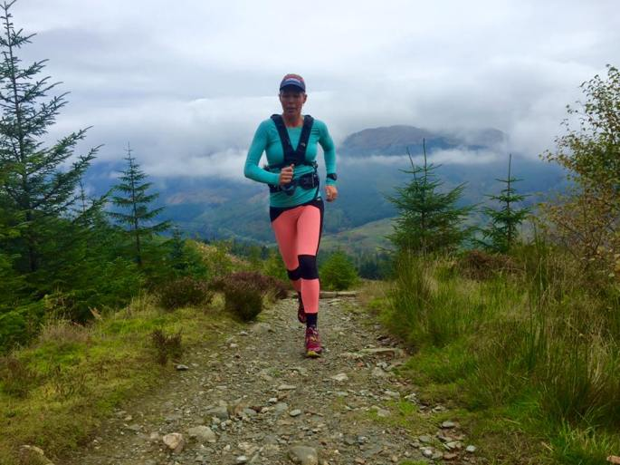 North Face Enduro Hydration Pack in action on Ben Ledi