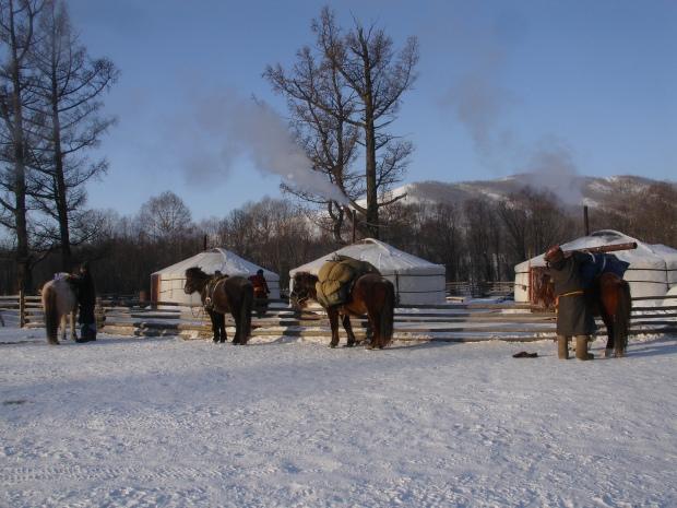 Mongolian Ice Camp - Photo from Sandbaggers