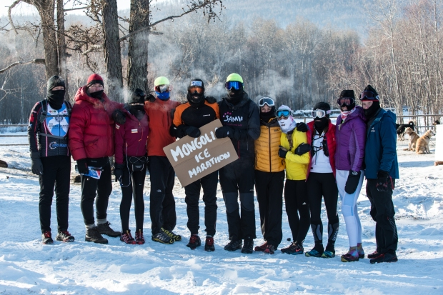 Mongolia Ice Marathon Starting Group (Photo - Johnny Graham - Digitalpict Photography)