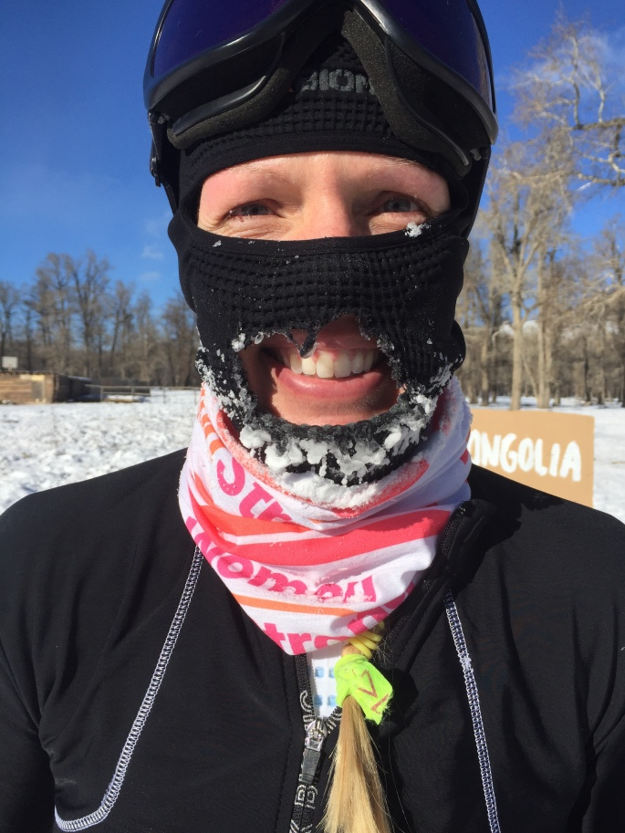 Frozen face post marathon
