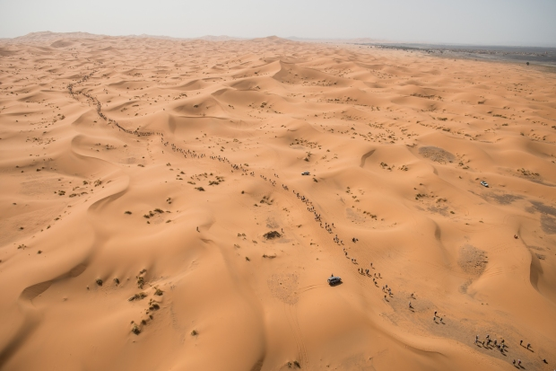 13km of sand dunes on day 1 to start the day