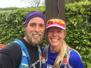Ben & Lucja after Edinburgh Marathon #273