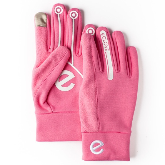 Extreme pink touch screen glove