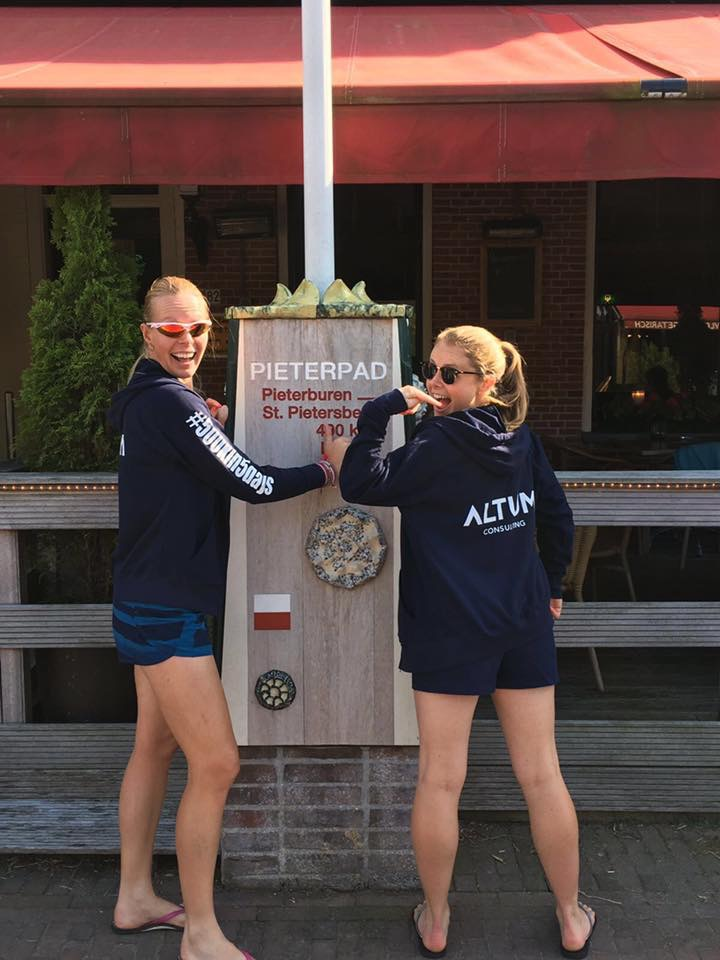 In our Altum Consulting hoodies and Naked Runner sunglasses