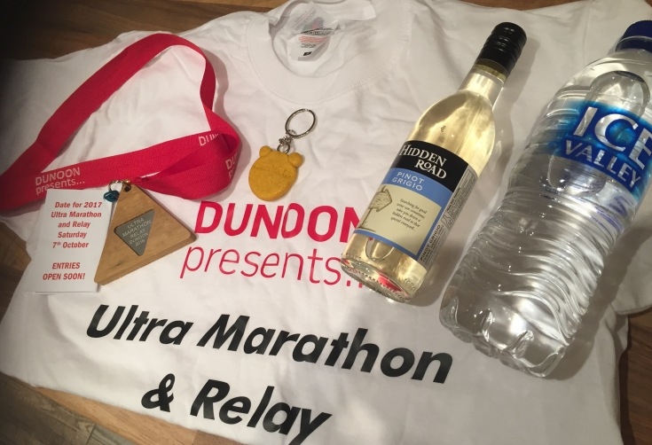 Goody bag included a lovely medal made from the redwoods, keyring, wine, water and a t-shirt