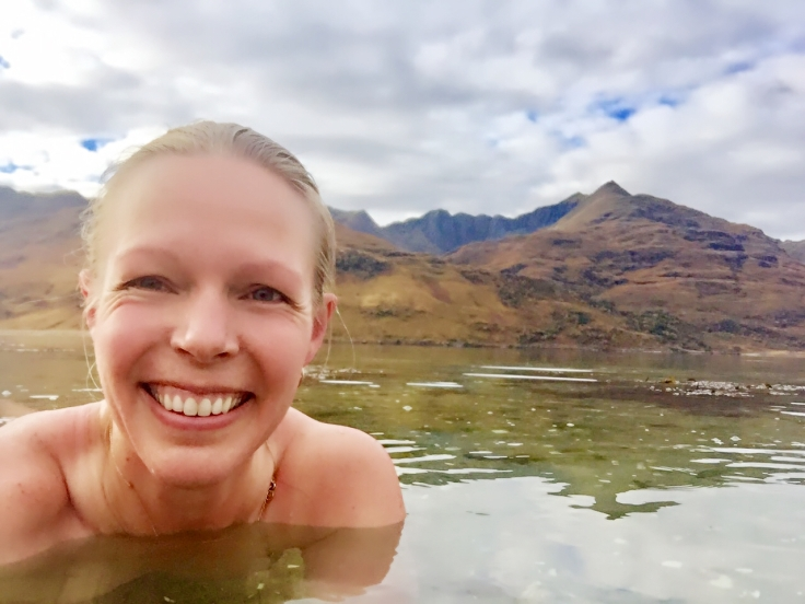 Wild swimming with a smile
