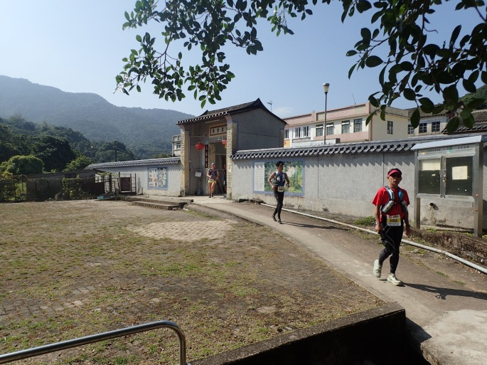 Running through one of the local villages